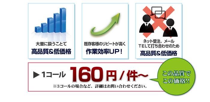 テレアポ1コール160円~